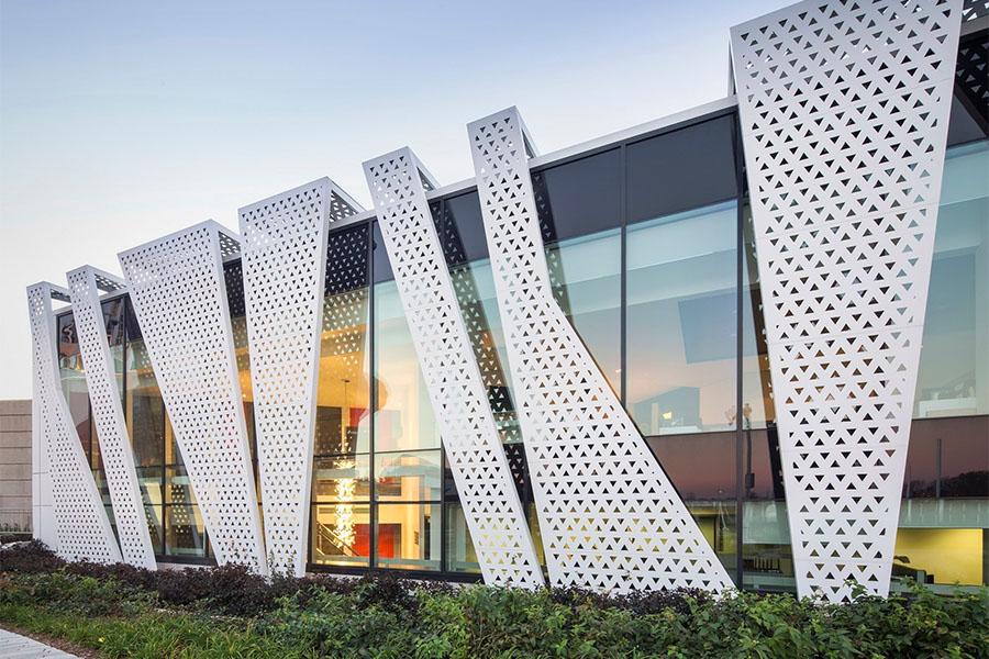 expanded metal facade