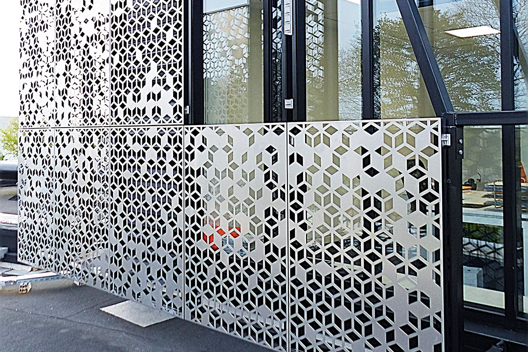 perforated stainless steel mesh facade