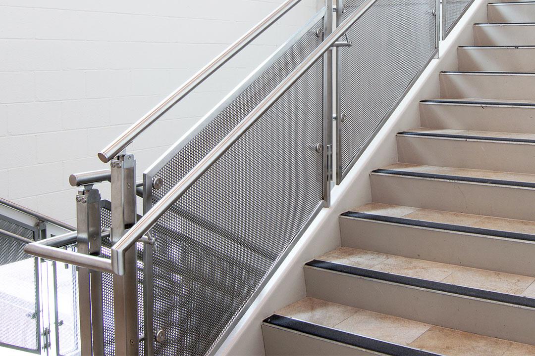 perforated metal balustrade